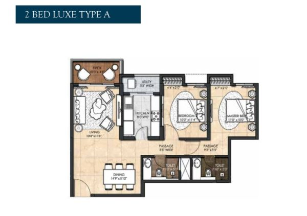 2 Bed Luxe Type A