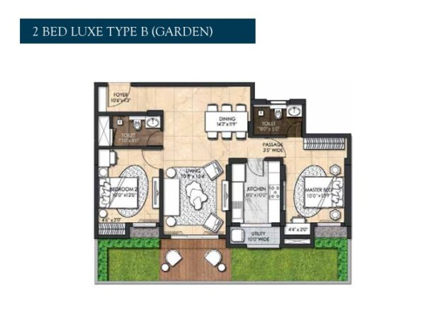 2 Bed Luxe Type B Garden