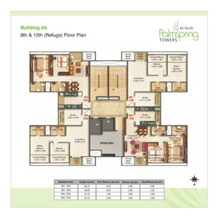 Building A6 - 8th & 12th Refuge Floor Plan