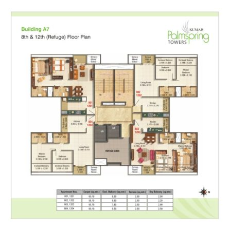 Building A7 - 8th & 12th Refuge Floor Plan