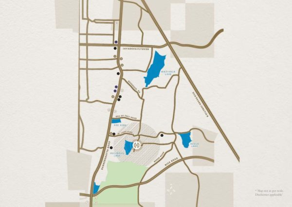 Location Map of Hiranandani Evita Bangalore